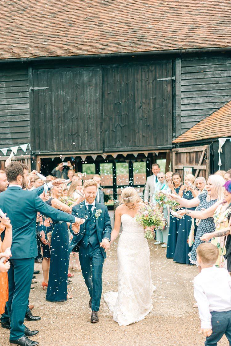 Confetti Throw Rustic Summer Country DIY Barn Wedding http://sarahjaneethan.co.uk/