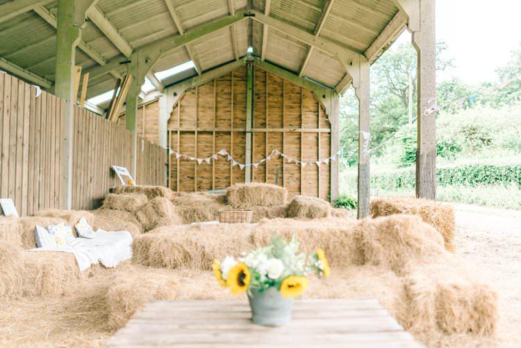 Hay Bale Seating Rustic Summer Country DIY Barn Wedding http://sarahjaneethan.co.uk/