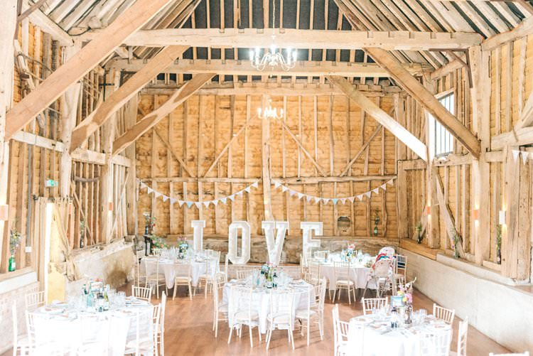 Decor Decoration Kent Beams Bunting Rustic Summer Country DIY Barn Wedding http://sarahjaneethan.co.uk/