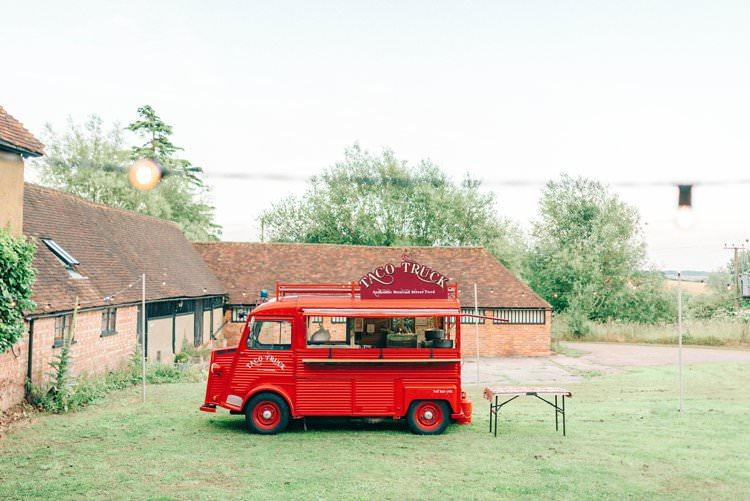 Taco Food Truck Rustic Summer Country DIY Barn Wedding http://sarahjaneethan.co.uk/