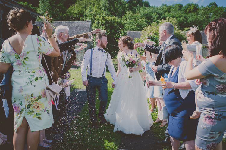 Confetti Throw Quirky Afternoon Tea Wedding http://laurarhianphotography.co.uk/