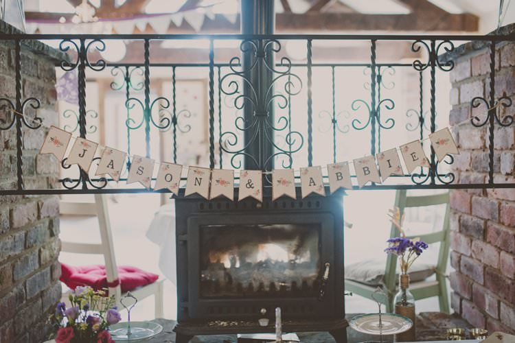 Paper Bunting Names Quirky Afternoon Tea Wedding http://laurarhianphotography.co.uk/