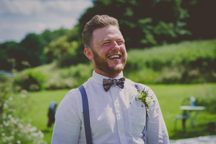 Bow Tie Braces Groom Quirky Afternoon Tea Wedding http://laurarhianphotography.co.uk/