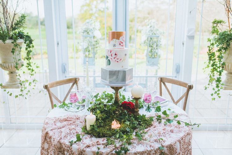 Cake Table Floral Rose Gold Copper Natural Soft Outdoors In Wedding Ideas https://www.lewisfackrell.co.uk/