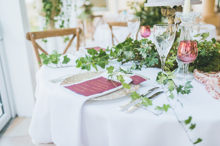 Tablescape Decor Table Decoration Rose Gold Sequins Flowers Greenery Calligraphy Stationery Natural Soft Outdoors In Wedding Ideas https://www.lewisfackrell.co.uk/