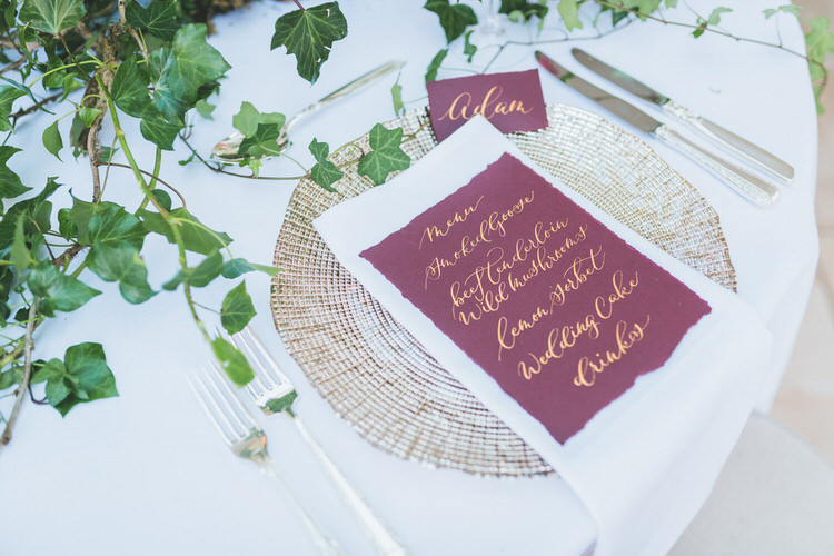 Red Gold Calligraphy Stationery Menu Place Setting Natural Soft Outdoors In Wedding Ideas https://www.lewisfackrell.co.uk/