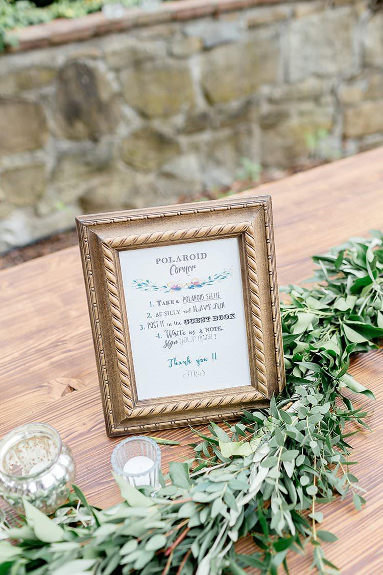 Polariod Guest Book Romantic Scenic Tuscany Destination Wedding http://ilariapetrucci.co.uk/