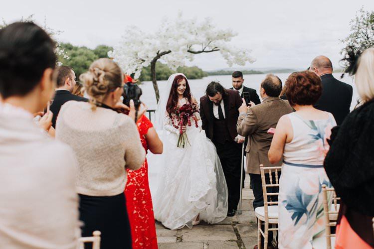Cherry Blossom Tree Ceremony Backdrop Ethereal Opulent Woodland Inspired Wedding http://jaynelindsay.com/