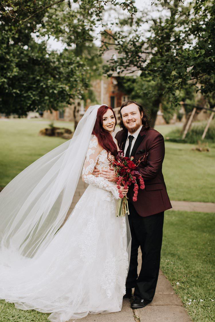 Red Plum Burgundy Jacket Suit Groom Ethereal Opulent Woodland Inspired Wedding http://jaynelindsay.com/