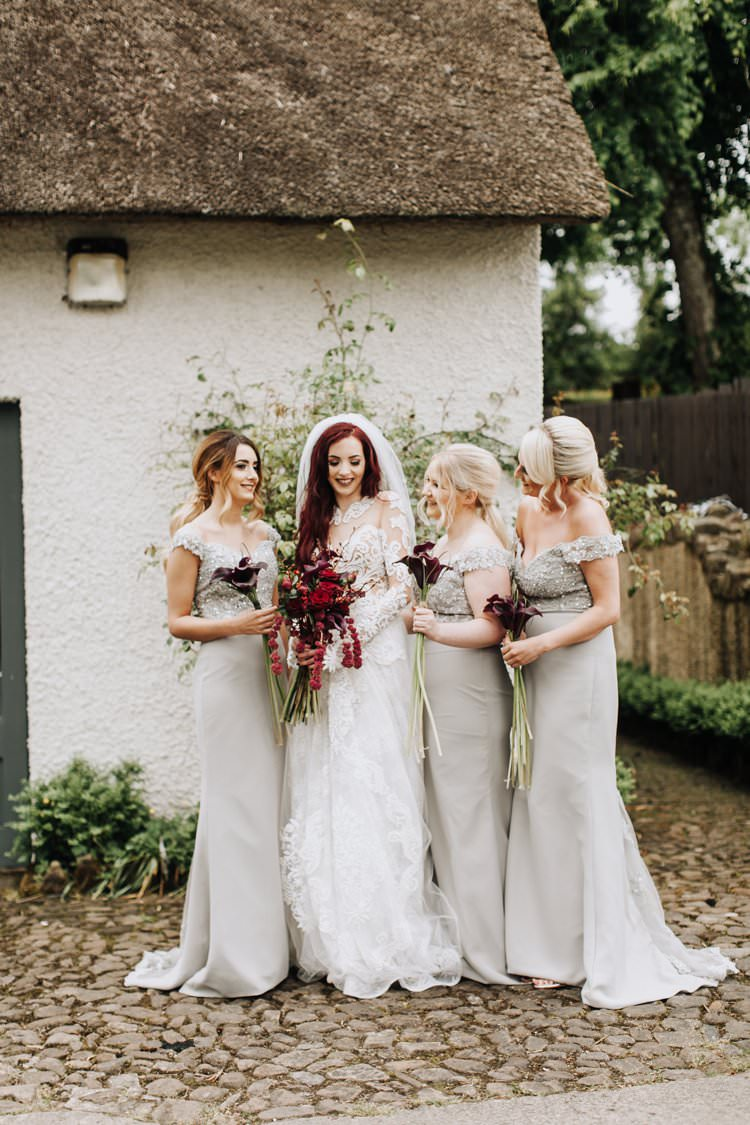 Silver Sequin Beaded Bridesmaids Dresses Long Maxi Ethereal Opulent Woodland Inspired Wedding http://jaynelindsay.com/