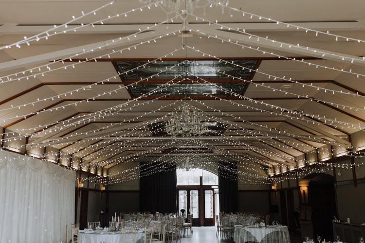 Fairy Lights Reception Venue Room Ethereal Opulent Woodland Inspired Wedding http://jaynelindsay.com/