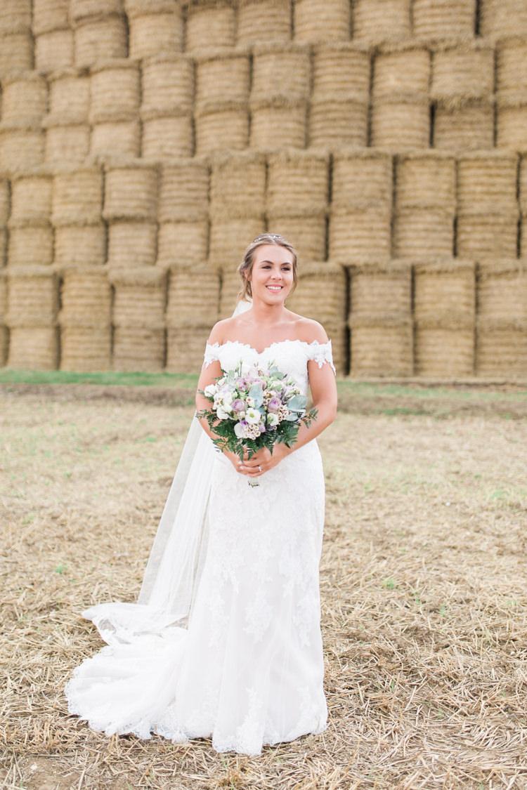 Bride Bridal Bardot Dress Gown Full Length Cathedral Veil Bouquet Darling Hand Made Tipi Garden Wedding https://www.gemmagiorgio.com/