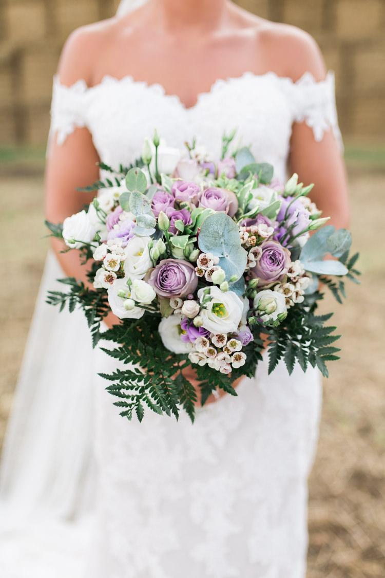 Bride Bridal Bouquet Eucalyptus Pastel Rose Wax Flower Fern Bardot Dress Darling Hand Made Tipi Garden Wedding https://www.gemmagiorgio.com/