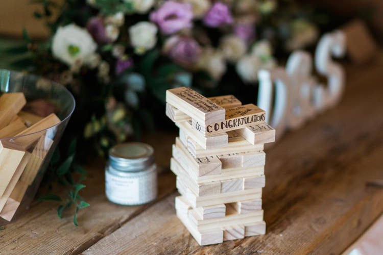 Jenga Guest Book Darling Hand Made Tipi Garden Wedding https://www.gemmagiorgio.com/