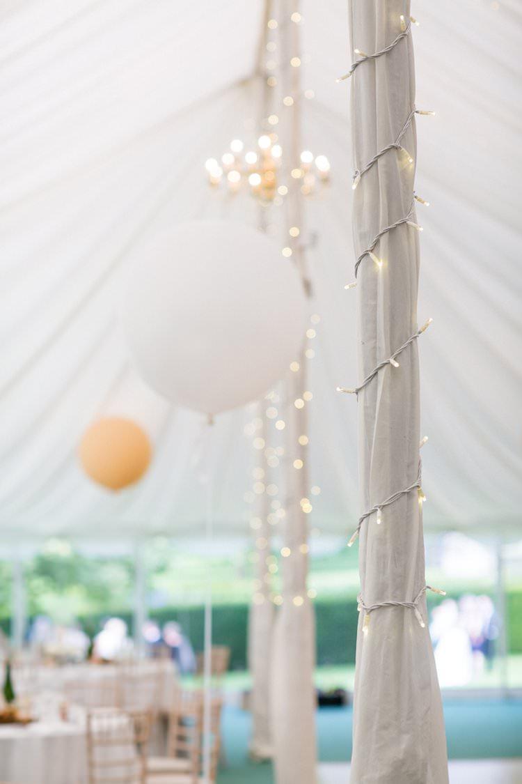 Balloons Fairy Lights Marquee Pretty Floral Pastels Summer Wedding https://www.binkynixon.com/