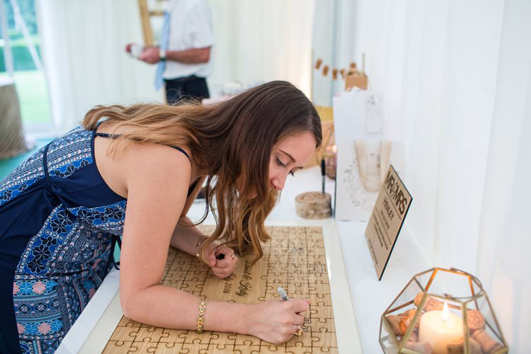 Guest Book Wooden Puzzle Pretty Floral Pastels Summer Wedding https://www.binkynixon.com/