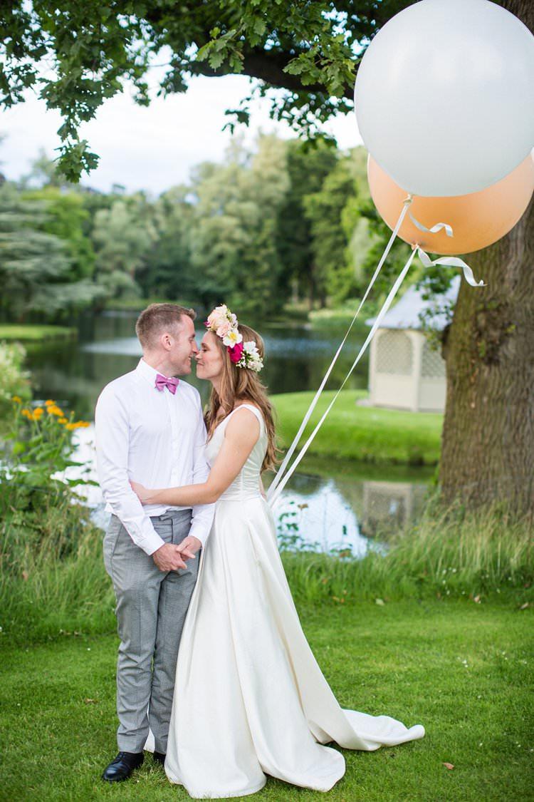 Balloons Bride Groom Pretty Floral Pastels Summer Wedding https://www.binkynixon.com/
