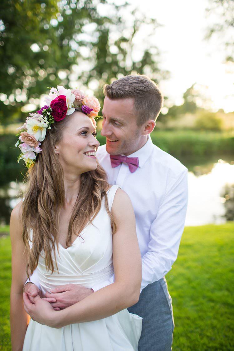 Flower Crown Bride Bridal Pink Pretty Floral Pastels Summer Wedding https://www.binkynixon.com/