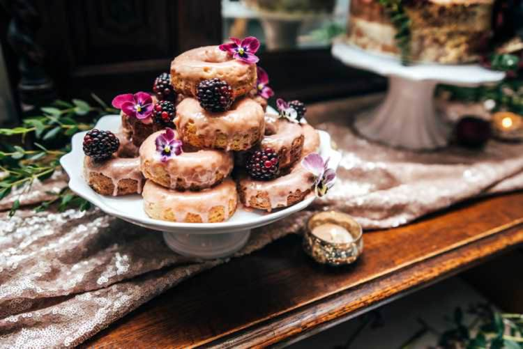 Donuts Celestial Feast Party Wedding Ideas http://www.threeflowersphotography.co.uk/