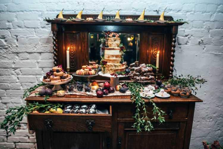 Dessert Table Furniture Cakes Sweets Celestial Feast Party Wedding Ideas http://www.threeflowersphotography.co.uk/