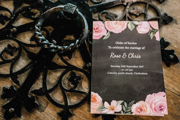 Black Floral Stationery Order Service Luxe Rustic Autumn Berry Wedding http://www.oobaloosphotography.co.uk/