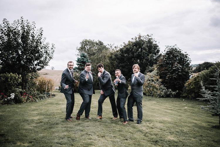 Grey Suits Groom Groomsmen Luxe Rustic Autumn Berry Wedding http://www.oobaloosphotography.co.uk/