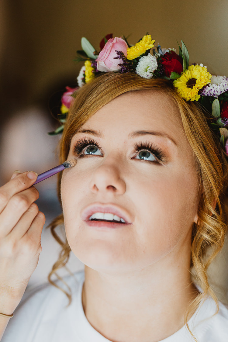 Make Up Bride Bridal Colourful DIY Floral Luxe Barn Wedding http://www.joemather-photography.co.uk/