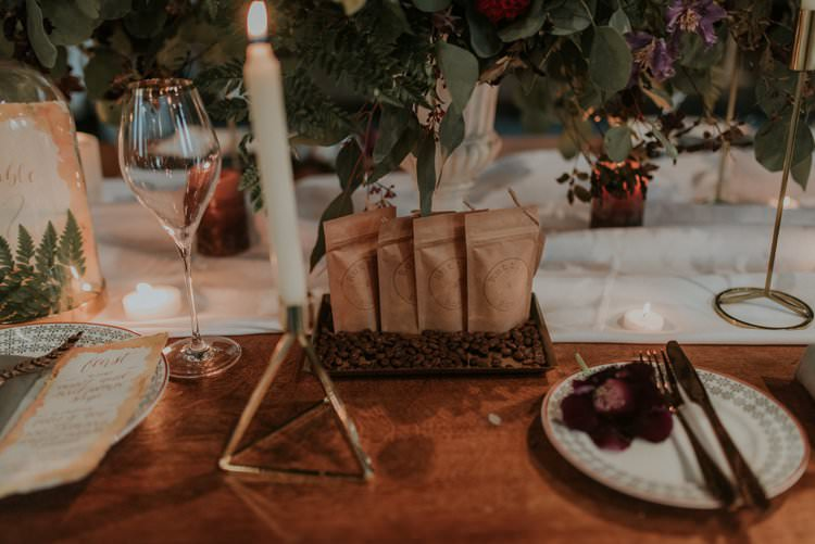 Coffee Favours Autumn Hygge Wedding Ideas http://meganelle.co.uk/