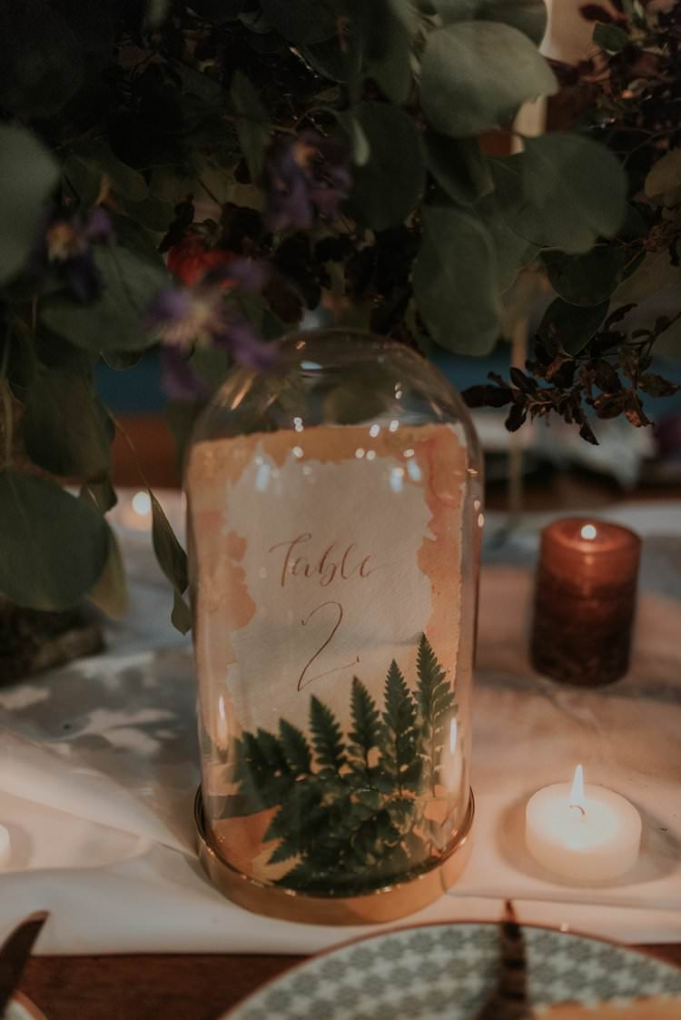 Calligraphy Stationery Paper Table Number Jar Bell Autumn Hygge Wedding Ideas http://meganelle.co.uk/
