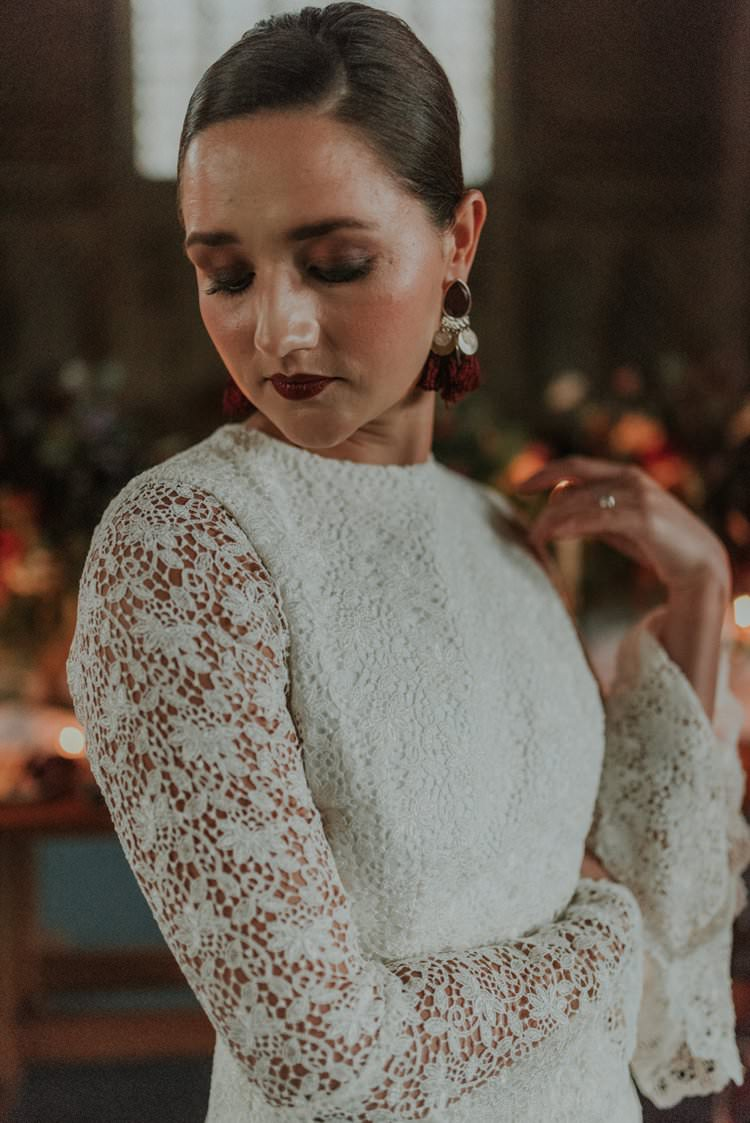 Make Up Bride Bridal Autumn Hygge Wedding Ideas http://meganelle.co.uk/