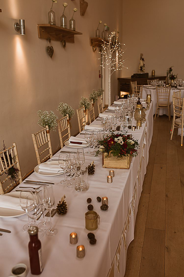 Top Tables Gold Candles Beautiful Vibrant Dark Red Autumn Wedding http://thespringles.com/