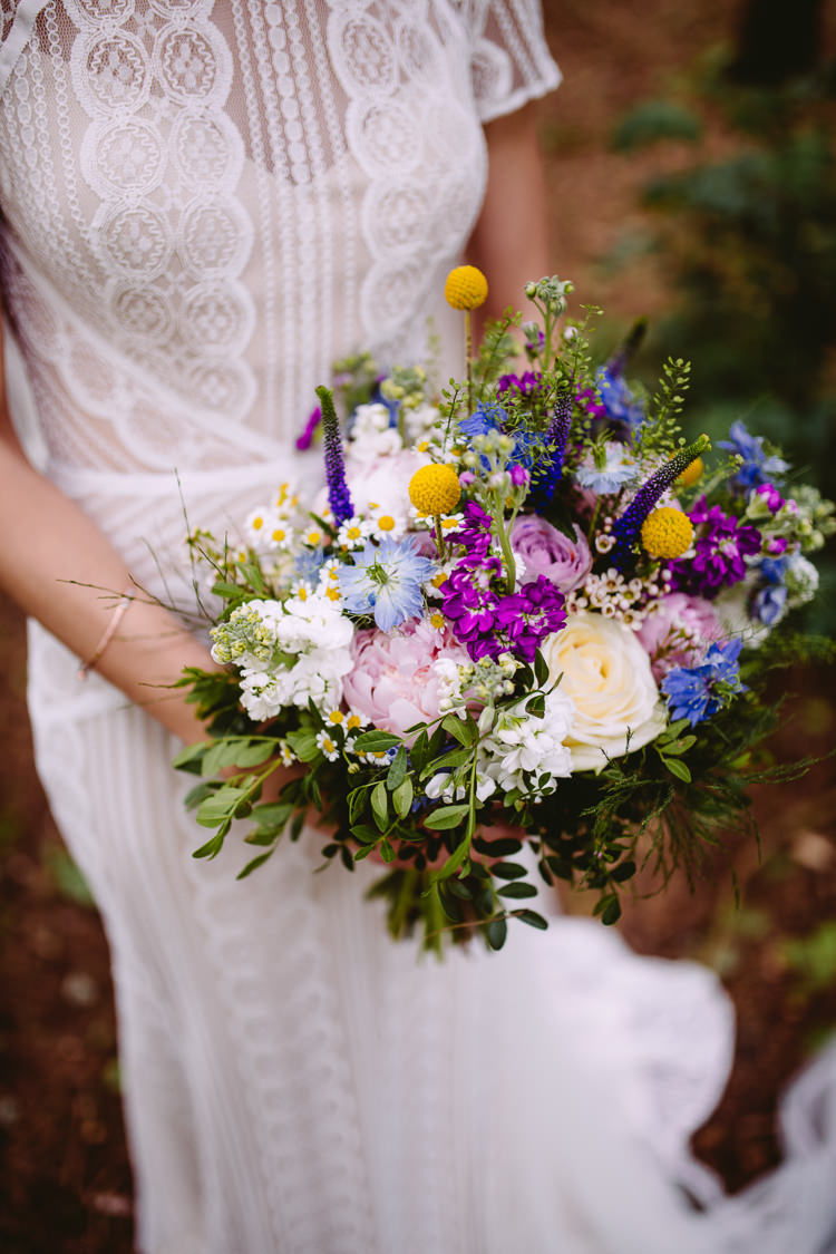 Bouquet Flowers Bride Bridal Peonies Cornflower Stocks Daisies Roses Craspedia Geenery Gorgeous Gold Navy Wow Factor Wedding http://hayleybaxterphotography.com/