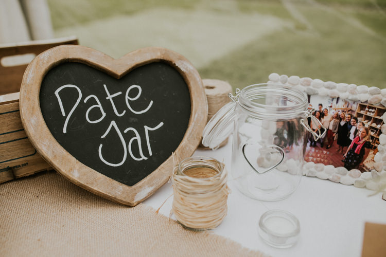 Date Jar Guest Book Rustic Country Fun Autumn Farm Wedding http://natalyjphotography.com/