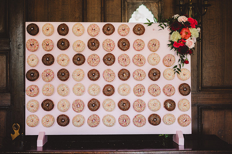 Donut Wall Stand Station English Country Garden Wedding Colourful Indian Party https://www.maytreephotography.co.uk/
