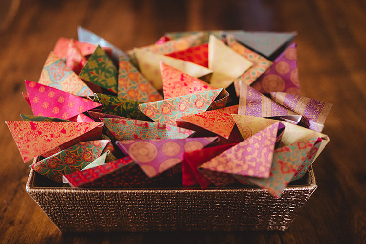 Confetti Cones English Country Garden Wedding Colourful Indian Party https://www.maytreephotography.co.uk/