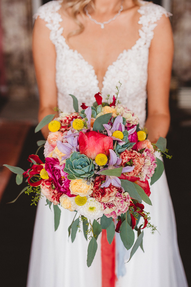 Bouquet Flowers Bright Peony Succulent Bride Bridal English Country Garden Wedding Colourful Indian Party https://www.maytreephotography.co.uk/