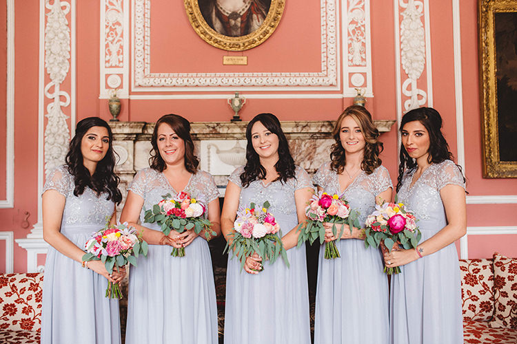 Grey Lilac Bridesmaid Dresses English Country Garden Wedding Colourful Indian Party https://www.maytreephotography.co.uk/