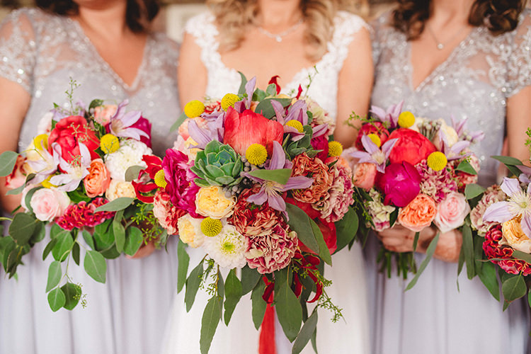 Bouquet Flowers Bright Peony Succulent Bride Bridal Bridesmaids English Country Garden Wedding Colourful Indian Party https://www.maytreephotography.co.uk/
