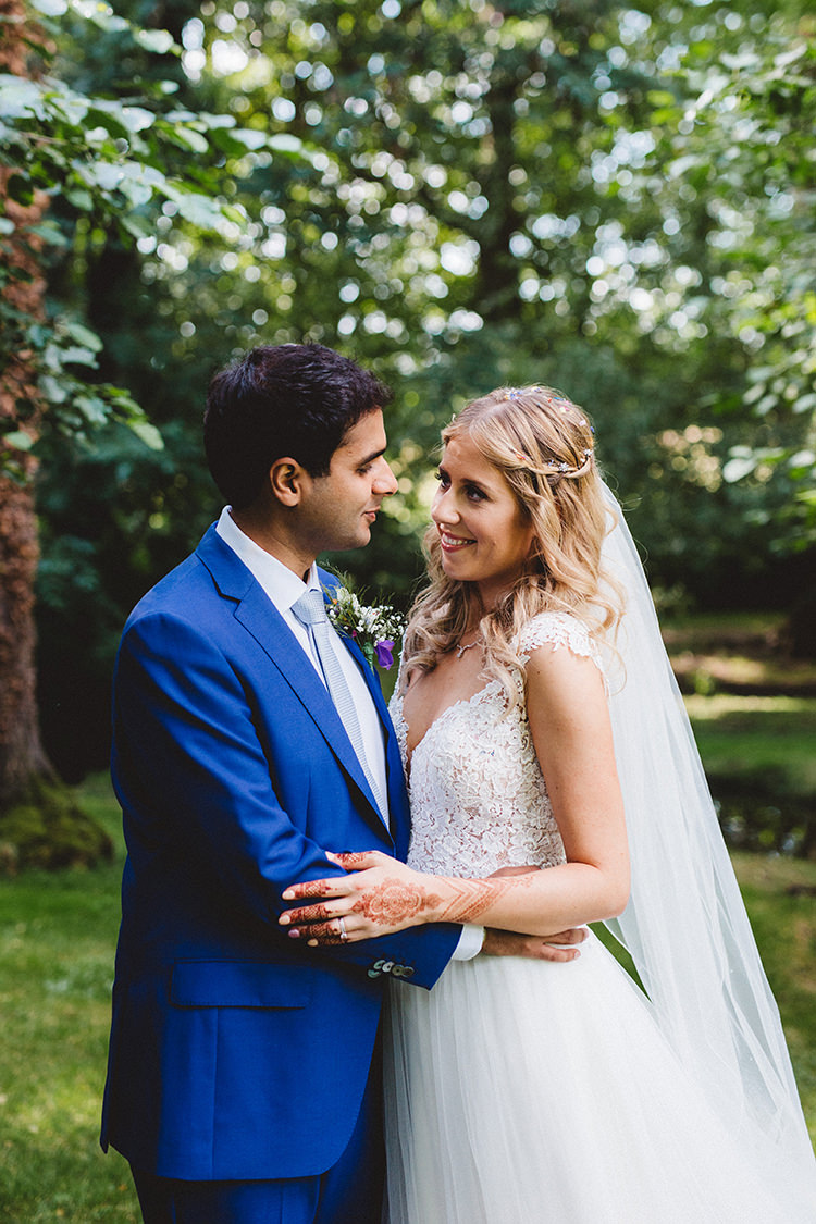 English Country Garden Wedding Meets Colourful Indian Party
