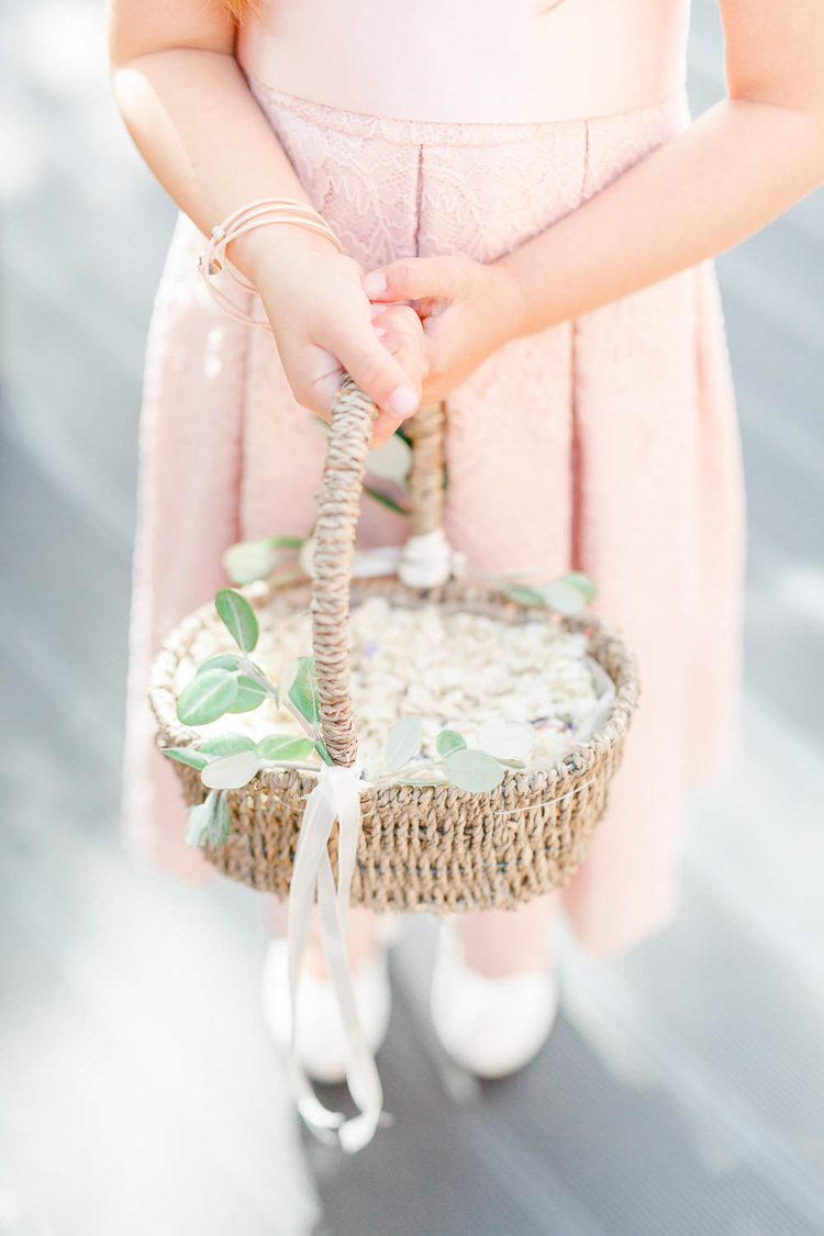 Flower Confetti Basket Light Airy Pretty Pastel Pink Wedding Http Whitestagweddings