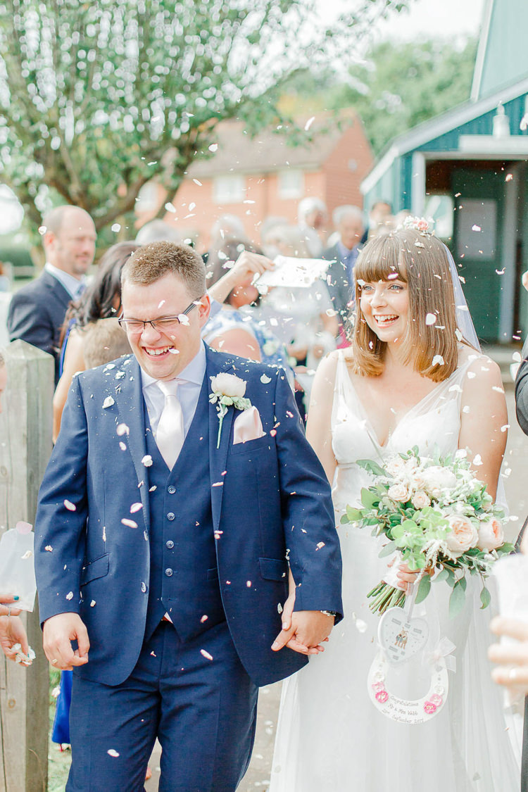 Confetti Throw Light Airy Pretty Pastel Pink Wedding http://whitestagweddings.com/