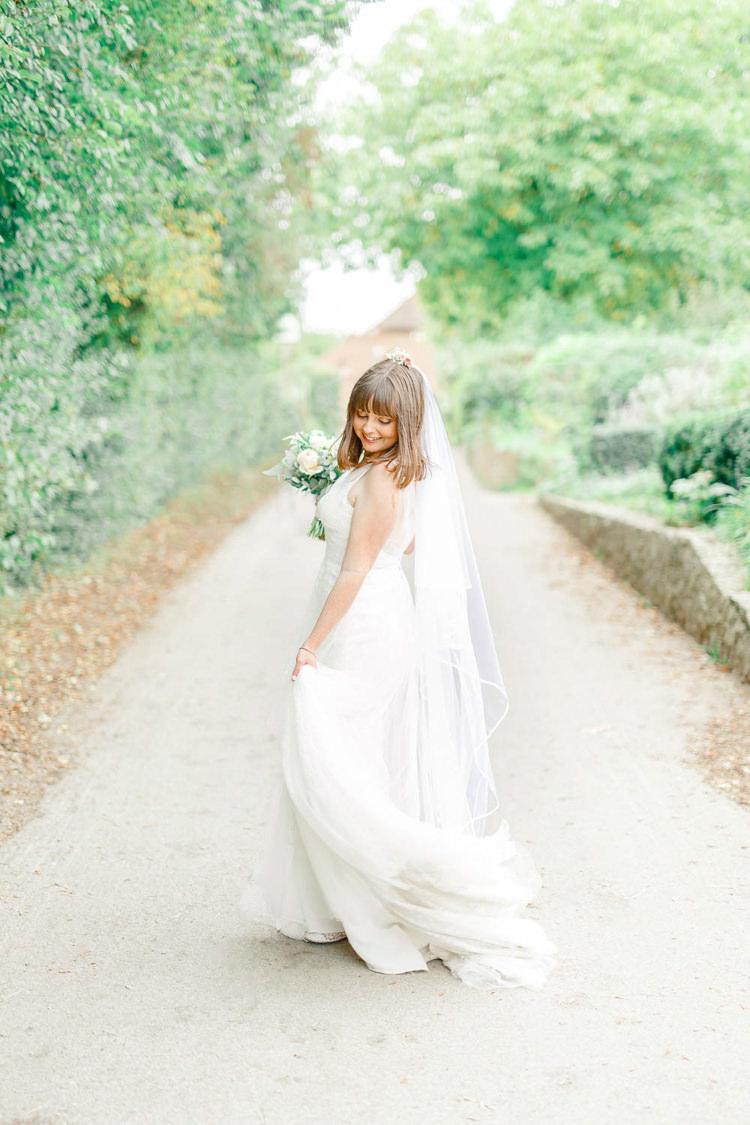 Essense Australia Tulle Dress Gown Bride Bridal Veil Light Airy Pretty Pastel Pink Wedding http://whitestagweddings.com/