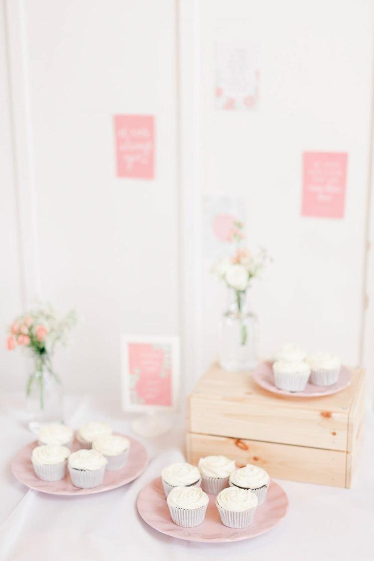 Cupcakes Light Airy Pretty Pastel Pink Wedding http://whitestagweddings.com/