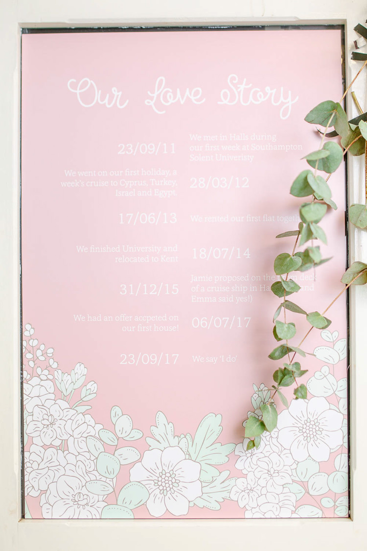 Stationery Love Story Floral Paper Print Poster Light Airy Pretty Pastel Pink Wedding http://whitestagweddings.com/