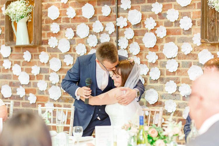 Flower Wall Top Table Backdrop Light Airy Pretty Pastel Pink Wedding http://whitestagweddings.com/