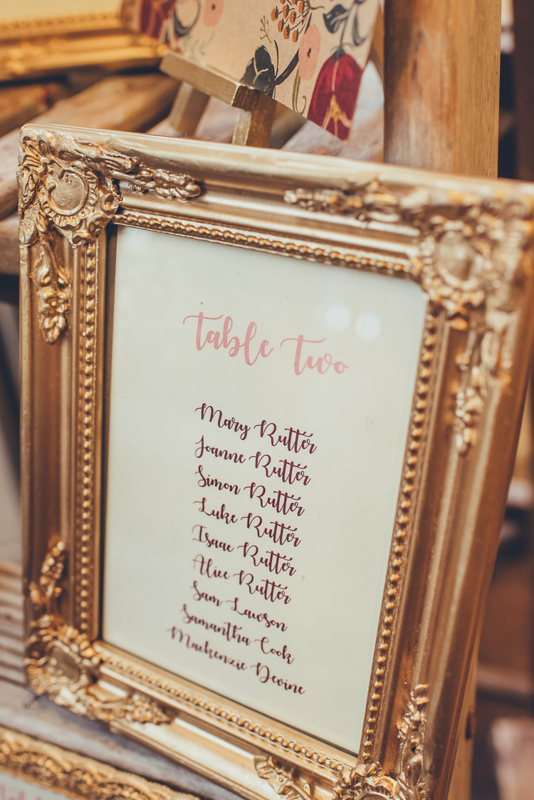 Rustic Industrial DIY Ladder Table Plan Gold Frames Find Your Seat | Greenery Burgundy City Autumn Wedding http://lisahowardphotography.co.uk/