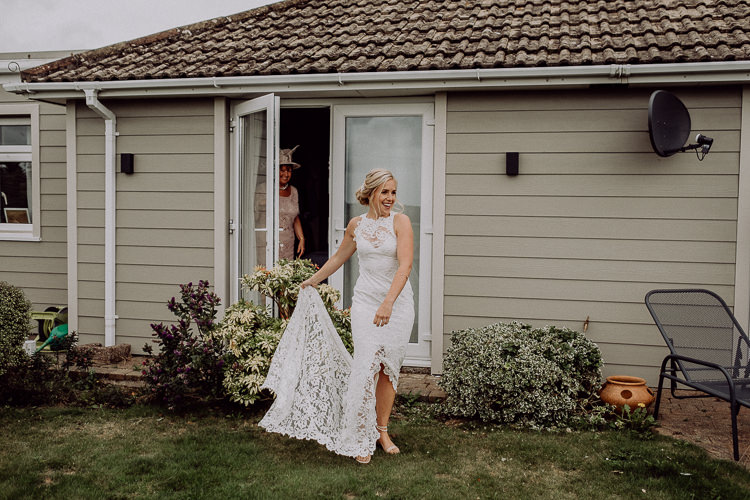 Lace Split Dress Gown Bride Bridal Grace Loves Lace Stylish Rainy Festival Wedding http://albatrossandmariner.co.uk/