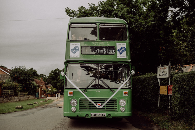 Double Decker Bus Transport Stylish Rainy Festival Wedding http://albatrossandmariner.co.uk/