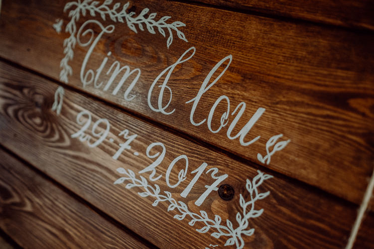 Wooden Guest Book Art Stylish Rainy Festival Wedding http://albatrossandmariner.co.uk/