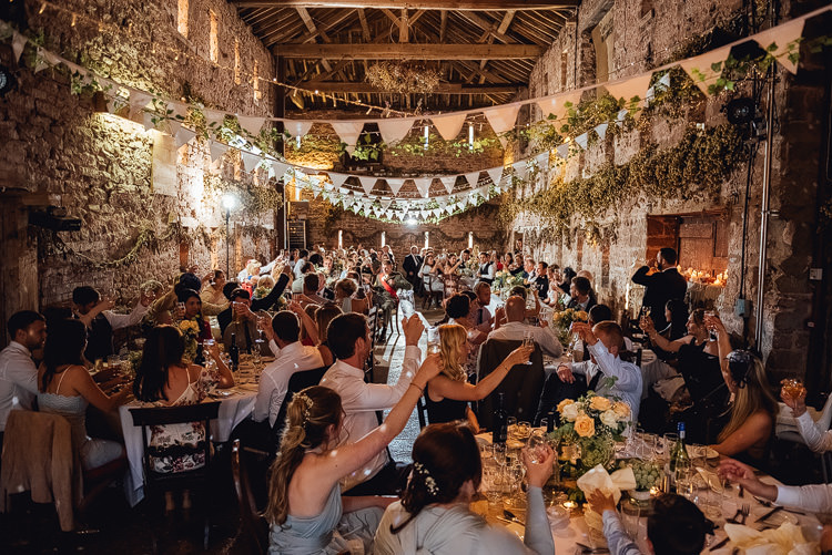 Hops Bunting Reception Outdoor Summer Rustic Barn Wedding https://www.chebirchhayesphotography.com/